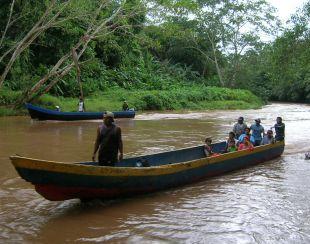 Darien boat in river