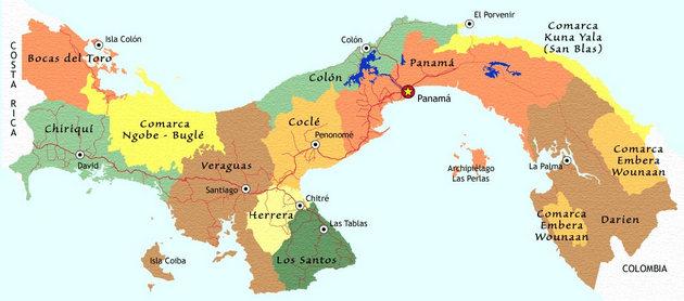 panama map white