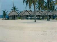 Cabanas Kuanidup desde el oceano