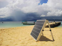 Solar Panel at Cabanas Isla Aguja