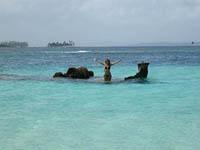 Barco hundido en Isla Perro