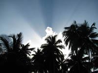 La luz de Dios dando las buenas tardes