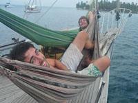 Hammocks on the boat