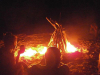 Bonfire in the islands